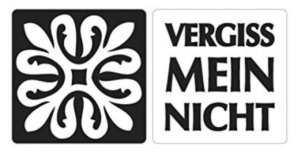Labels Ornament Vergissmeinnicht 2St.