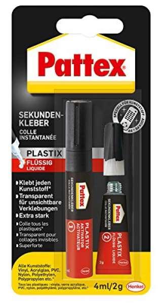 Pattex PSA1C - Colla liquida istantanea per plastica, 2 g, 4 ml