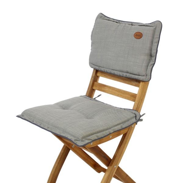 Sitz-Rückenkissen Slub Lightgrey