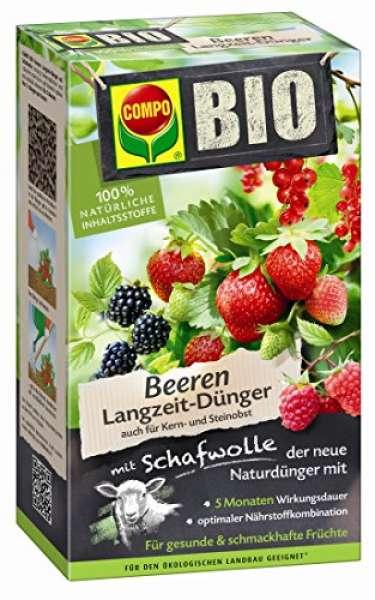 COMPO BIO Beeren Langzeit-Dünger mit Schafwolle 2 kg