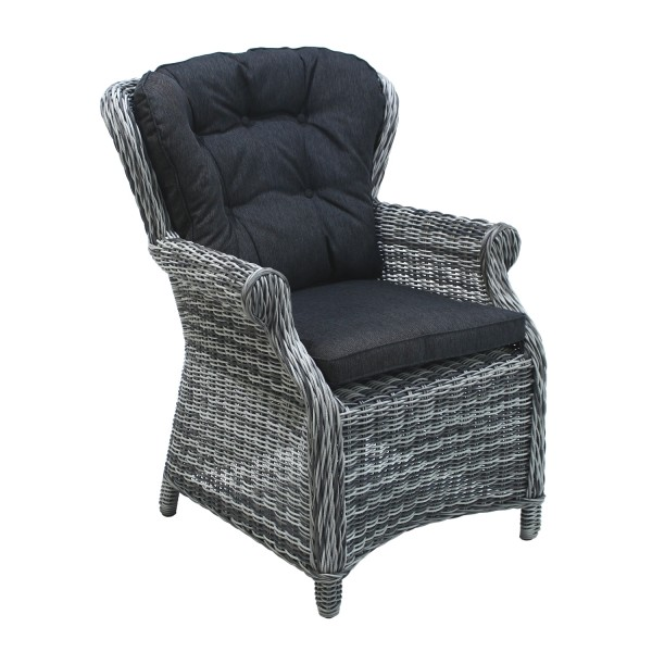 Sessel Broadway Dining grey shell+Kissen