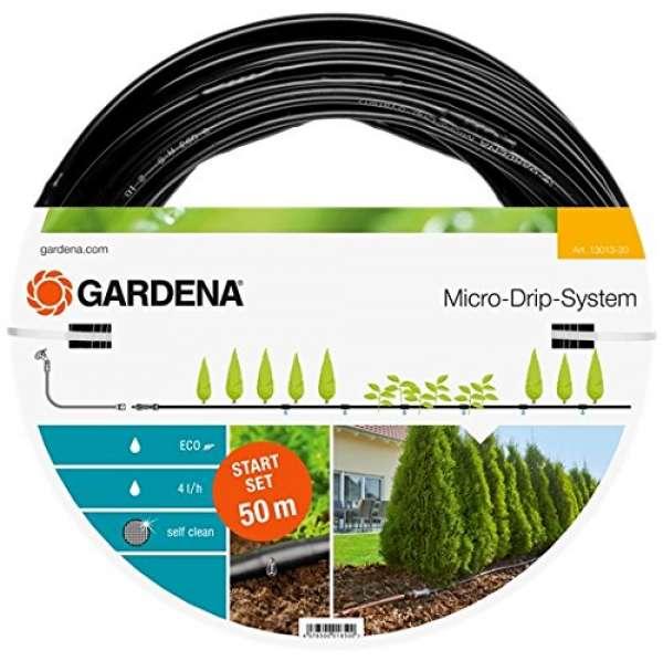 Gardena Micro-Starter Set Pflanzreihe 13013-20 - L, 50m, schwarz