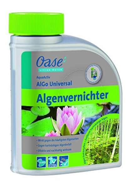 Oase Wasseraufbereiter AquaActiv AlGo Universal 500 ml, silber Biozid