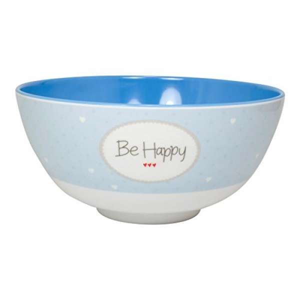 Melamin Müslischale Be Happy blau