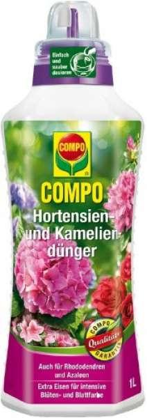 COMPO Hortensien-, Azaleen-, Kamelien-, Rhododendrondünger 1 Liter