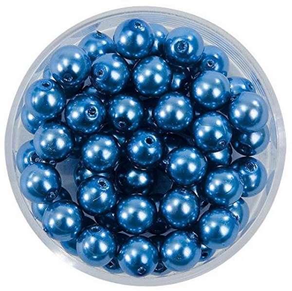 Glaswachsperlen 04mm 85St. azurblau