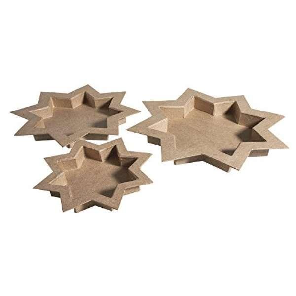 Pappmache Schalen Stern 3 Größen