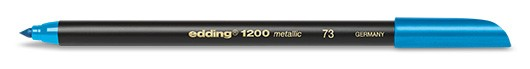 edding 1200 metallic colorpen - 073 Blau Metallic