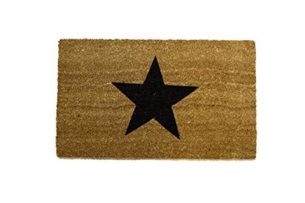 Fußmatte Stern schwarz 45x75cm
