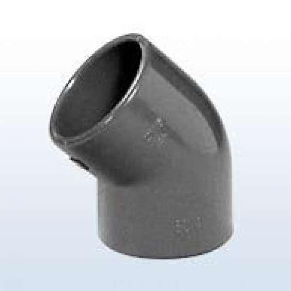 Winkel 45°, 50 mm aus PVC