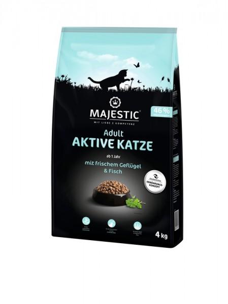 MAJESTIC AKTIVE KATZE - Geflügel & Fisch - 4kg