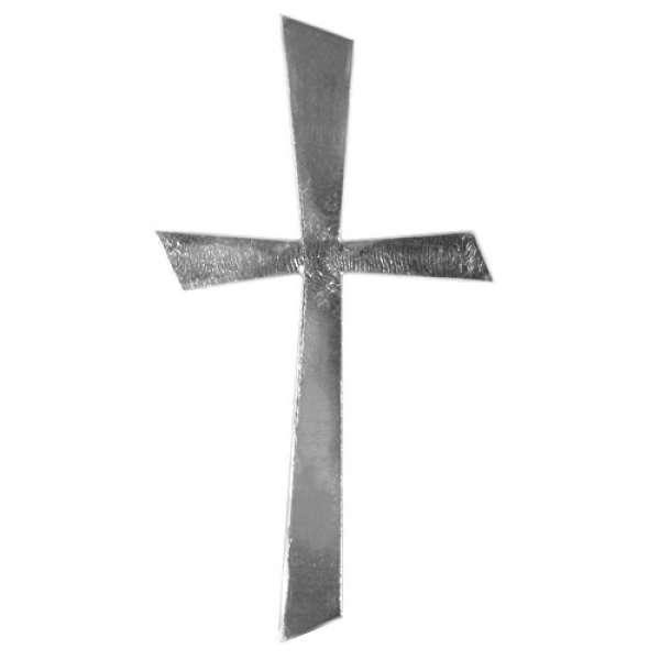 Wachs Motiv Kreuz silber 10,5 x 5,5cm