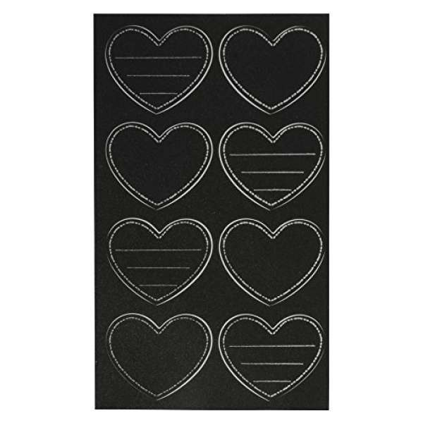 Tafelfolien Sticker Herzen D4,5cm 8St.