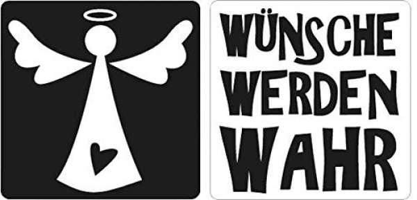 """Labels """"Wünsche werden wahr, Engel"""""""