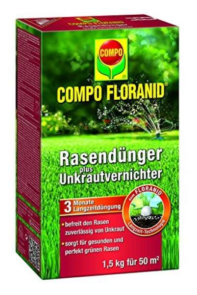COMPO FLORANID Rasendünger plus Unkrautvernichter 1,5 kg