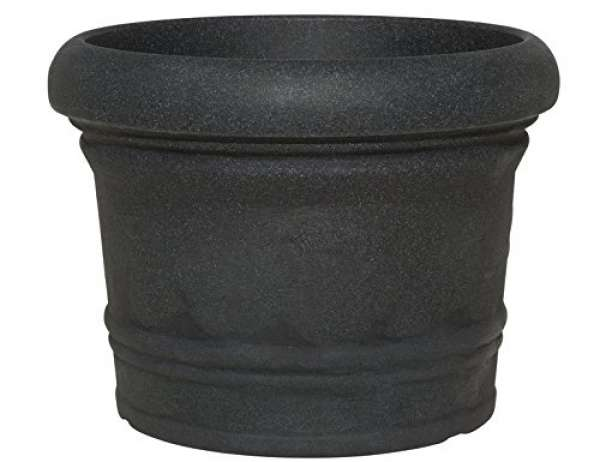 Pflanztopf Venice rund schwarz-granit 45xH34cm
