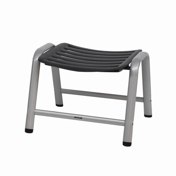 Hocker Wave silber/anthrazit