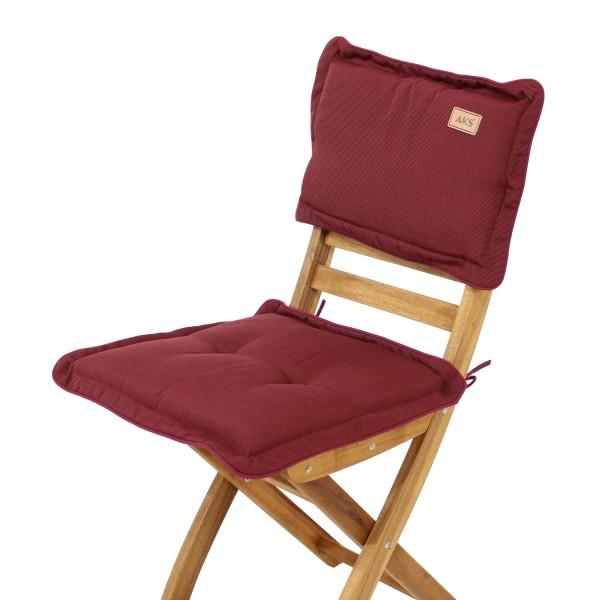 Sitz-Rückenkissen Bordeaux