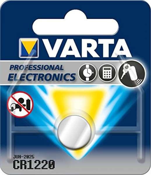 Varta CR1220 Lithium Knopfzelle (3V, 35mAh)