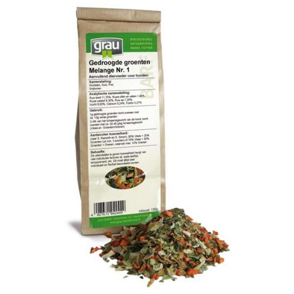 GRAU Getrocknete Gemüse Melange Nr. 1 - 150g