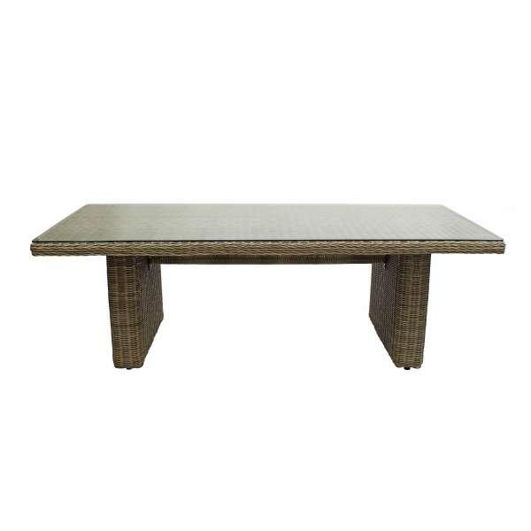 Tisch List grey seagrass 230x100 Glaspl.
