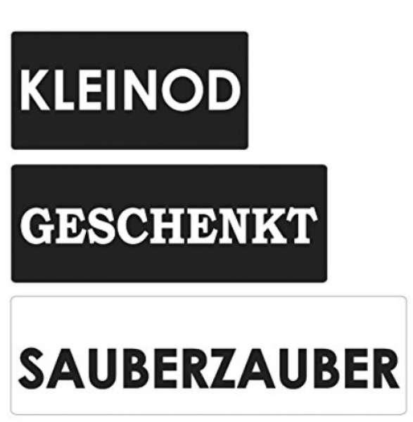 Labels Kleinod Geschenkt Sauberzauber