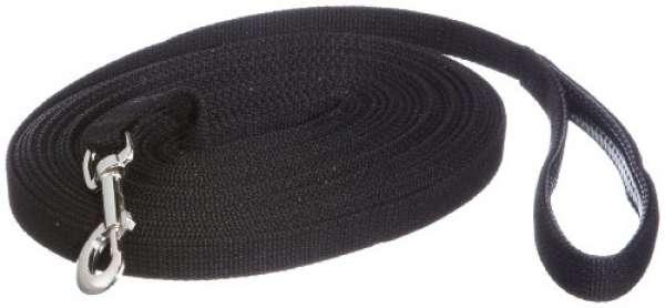 Trixie Schleppleine Gurtband schwarz, 15 m x 20 mm