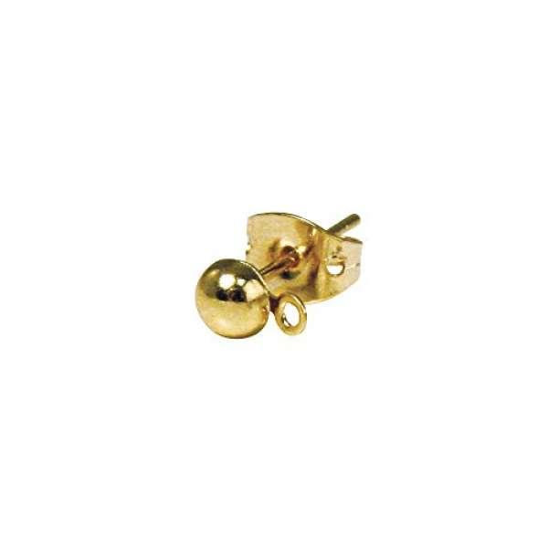 Ohrstecker gold 4mm