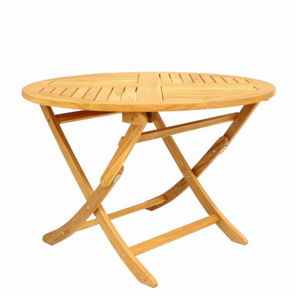 Tisch Poker 110cm Teakholz