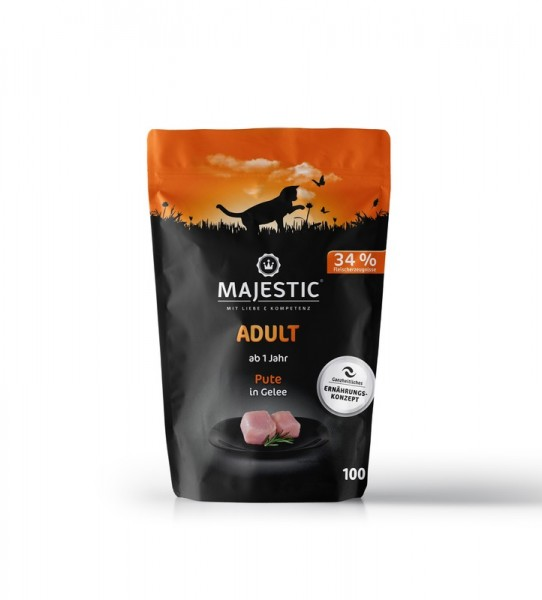 MAJESTIC Pute Pouch 100g