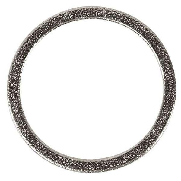 Metall Schmuckring flach D50mm silber