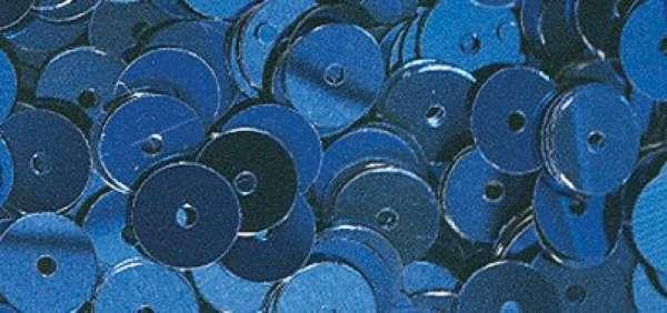 Pailletten gewölb. d.blau