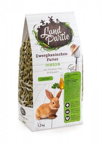 LandPartie 1,2kg Zwergkaninchen Junior Monopellet