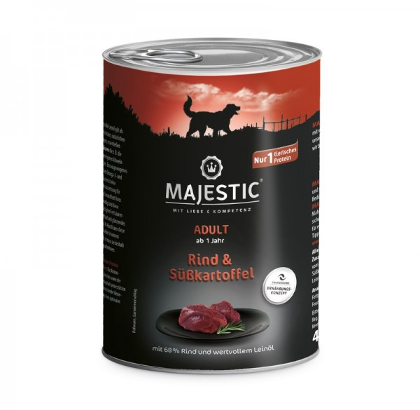 MAJESTIC Rind & Süßkartoffel - 400g