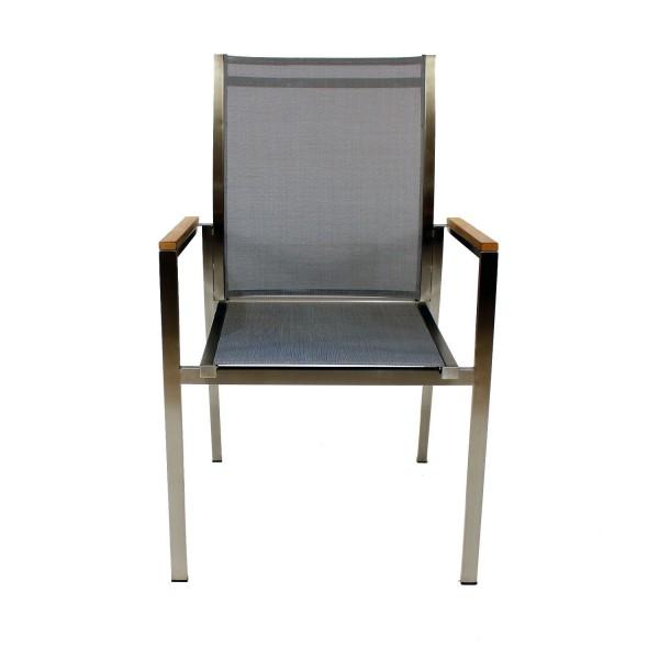 Sessel Clifden silber schwarz