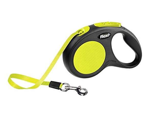 flexi New Neon Seil, M, schwarz/neon