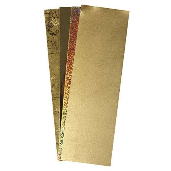 Wachs Folie Gold-Töne 20x6,5cm 4Farben