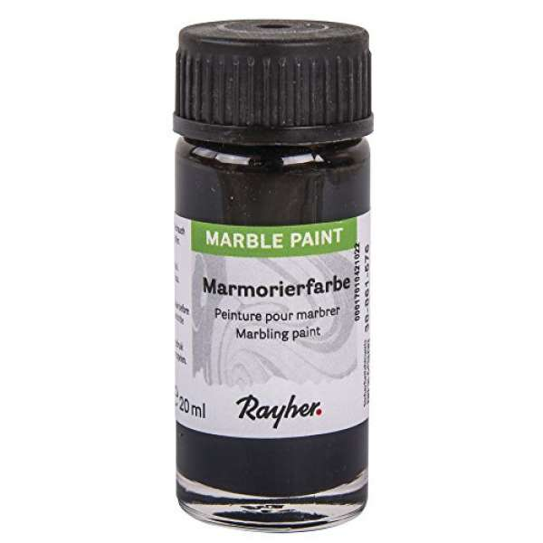 Marble Paint Marmorierfarbe schwarz 20ml