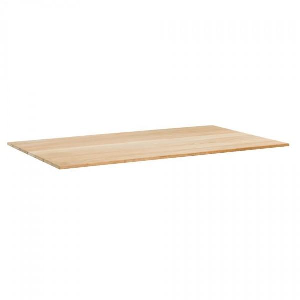 Tischplatte Memphis 160x95cm Teakholz