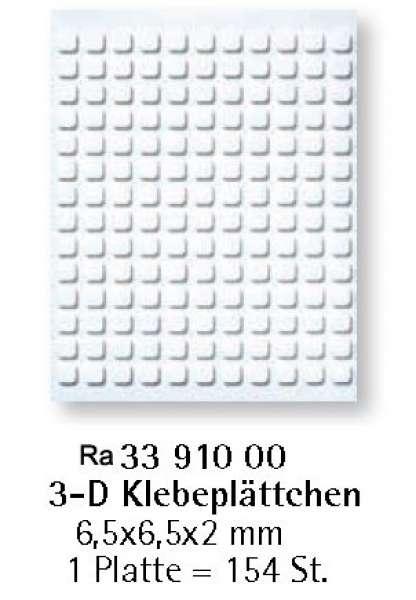 Klebe Plättchen 3D 6,5x6,5x2mm 154St.