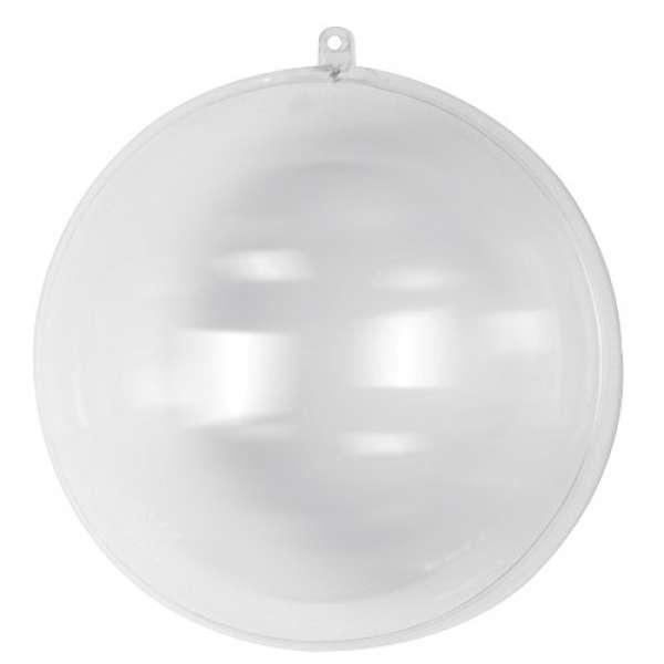 Plastik Kugel 2tlg. 20cm kristall