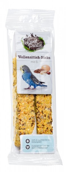 LandPartie 100g Sticks mit Ei 2er Wellensittich