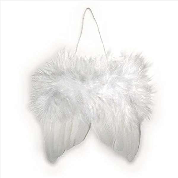 Engelflügel aus Federn 10cm weiß