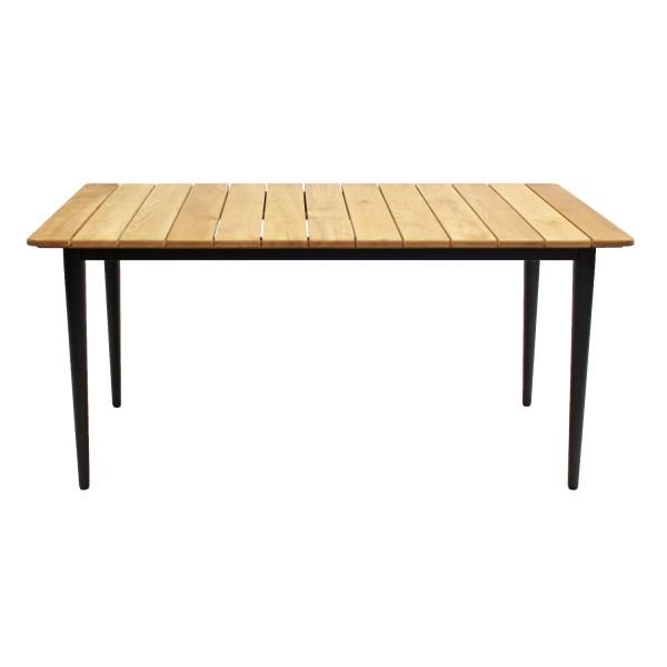 Tisch Laval 240x90 schwarz mit Teak