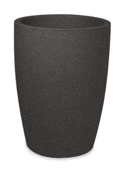 Pflanztopf Verona rund schwarz-granit 40xH53