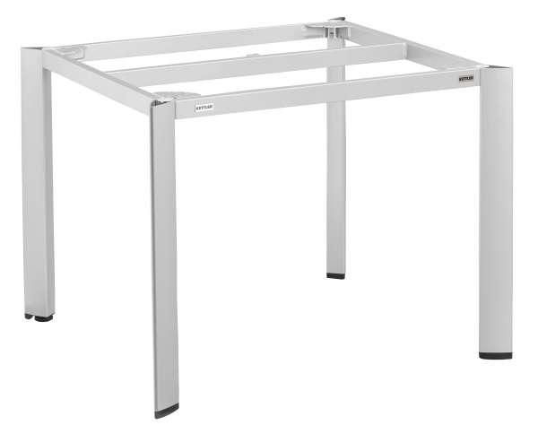 Tischgestell EDGE 95x95cm Alu platin