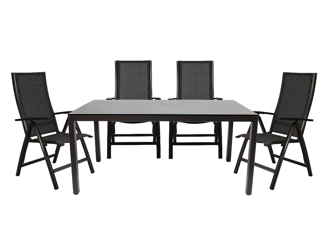 set ventura tisch seattle sessel verstellbar metallm bel gartenm bel bellandris. Black Bedroom Furniture Sets. Home Design Ideas
