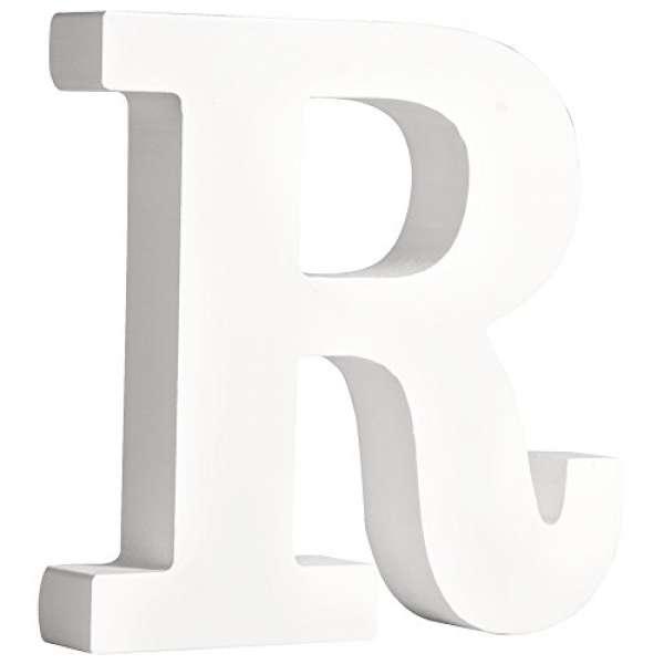 Buchstabe R weiß