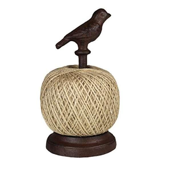"""Jute-Schnur Halter """"Vogel"""" aus Gusseisen - Garten-Schnur - Kokosseil - Garten Kordel"""