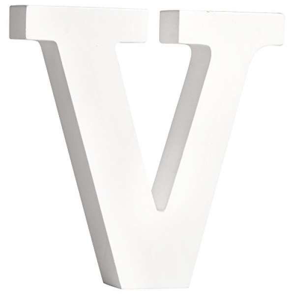 Buchstabe V weiß